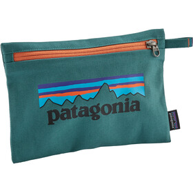 Patagonia Zippered Pouch p-6 logo/tasmanian teal